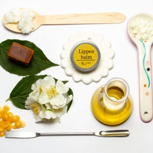 veganes Lippen Balsam mit Jasminwachs